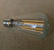 6W E26/E27 Lampadine LED a incandescenza ST64 6 SMD 2835 480-600 lm Bianco caldo Decorativo V 1 pezzo