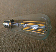 6W E26/E27 Bombillas de Filamento LED ST64 6 SMD 2835 480-600 lm Blanco Cálido Decorativa V 1 pieza