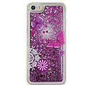 For iPhone 7 7plus 6S 6plus SE 5S 5 4S  Case Cover Purple Butterfly Pattern Quicksand Small Fresh Sand TPU Material