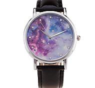 Mulheres Relógio Esportivo Relógio Elegante Relógio de Moda Relógio de Pulso Punk Colorido Mostrador Grande Quartzo PU BandaVintage