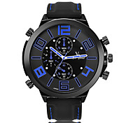 Unisex Fashion Watch Quartz Calendar / Chronograph / Water Resistant/Water Proof / Noctilucent PU Band Casual Black Brand