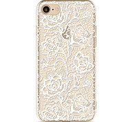For Apple iPhone 7  6S Case Cover Lace Printing Pattern Painted TPU Material Soft Package Phone Case