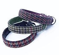 Stylish Swallow Grid PU Pets Collar for Pets Dogs(Assorted Sizes and Colours)