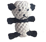 Cat / Dog Pet Toys Chew Toy / Teeth Cleaning Toy Rope / Panda / Woven Black / White Textile