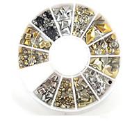 1pcs 6cm box 12 metal copper rivet wo