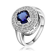 Jewelry Women Sterling Silver Silver Circular Ring Statement Ring