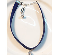 Necklace Imitation Pearl Reels Jewelry Daily / Casual Circular Design Alloy / Imitation Pearl Women 1pc Gift White / Dark Navy