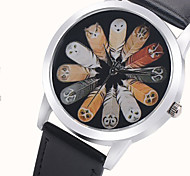 Relojes Mujer 2016 Fashion Watch Women Owl Watch Watch Face Colored Feathers Watches Leather Quartz Wristwatch Gift Idea
