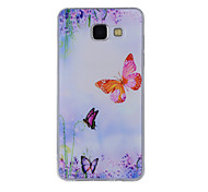 For Samsung Galaxy A8(2016) A8 A7 A5 A3 A510 A310 Case Cover Butterfly Painted Pattern TPU Material Phone Case