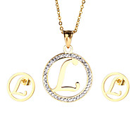 Jewelry 1 Necklace 1 Pair of Earrings Rhinestone Party Daily Casual 1set Women Gold Wedding Gifts