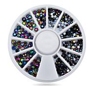 1pcs Black 3d Nail Art Rhinestones2mm 3mm Glitter Nail Tips