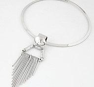 Alloy Women Concise Fashion Metal Tassel Collar Necklace Gold / Silver