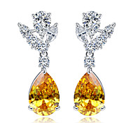 Earring / Earring Back Jewelry Women Wedding / Party / Daily / Casual Zircon 1 pair Yellow