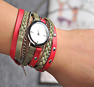 Relojes Mujer 2016 Fashion Bracelet Watches Women Leather Watch Strap Weaving Dress Digital Watch Clock Wrist Watches