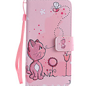 For Google Pixel XL Pixel PU Leather Material Cats and Bees Pattern Painting Phone Case