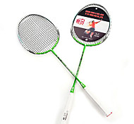 Badminton Rackets Nondeformable Durable Lightweight Aluminium Alloy One Pair for Indoor Outdoor Performance Practise Leisure Sports