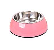 Собака Кормушки Животные Чаши и откорма Компактность Цвет отправляется в случайном порядке Нержавеющая сталь
