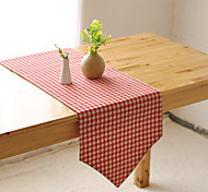 Rectangular Patterned / Gingham Table Runner , Cotton Blend Material Hotel Dining Table / Table Decoration