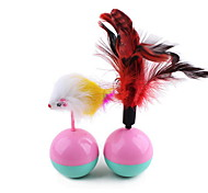 Pet Toys Feather Toy Tumbler Plastic Plush
