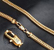Муж. Женский Ожерелья-цепочки Золотистый Мода бижутерия Бижутерия Назначение Свадьба Для вечеринок Повседневные Новогодние подарки
