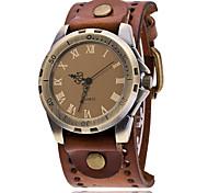 Vintage Cow Leather Bracelet Men WristWatch Casual Luxury Roman Number Quartz Watch Relogio Masculino Clock Hours