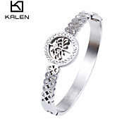 Kalen Top Quality Stainless Steel Shinning Rhinestone Bangles Tree of Life Bracelets For Women For Party Cheap Birthday Gifts