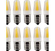 2W E14 2-pins LED-lampen T 4 COB 230-250 lm Warm wit / Koel wit V 10 stuks