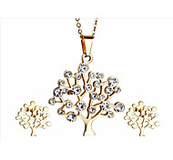 kalen®graceful женский комплекты ювелирных изделий 18k из нержавеющей стали итальянского золота гальваническим дерево жизни ожерелье поставщиком