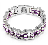 Men's Chain Bracelet Stainless Steel Fashion Purple Jewelry 1pc