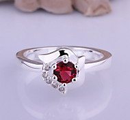 Jewelry Women Sterling Silver Silver Flower Ring