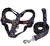 Dog Harness / Leash Adjustable/Retractable Characters Red / Black / Blue Fabric