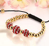 Bracelet Strand Bracelet Others / Gold Fashion / Adjustable / Personalized Birthday / Gift / Daily / Casual / Outdoor Jewelry GiftRed /