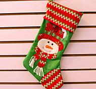 3шт Рождественская елка орнамент орнамент рождества чулки носки подарок мешок большой яркий ткань вышивки