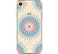 For Apple iPhone 7 7Plus 6S 6Plus Case Cover Blue Four-Corner Flower Pattern Painted TPU Material Soft Package Phone Case