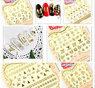 5 Nail Art Sticker Adesivi 3D unghie makeup Cosmetic Nail Art Design