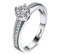 Hot sale Fashion Luxury Women Engagement  Platinum Plated 5A ZC Crystal Zircon Female Wedding Finger Rings Size 6789