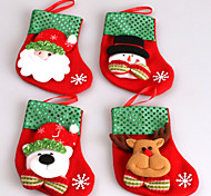 2Pcs The New Small Sequins Christmas Socks Christmas Stockings Christmas Gift Bags Candy Bag Of Christmas Tree Decorations  Random Pattern