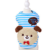 Dog Clothes/Jumpsuit Red / Blue Dog Clothes Winter / Spring/Fall Animal Keep Warm