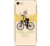 For Apple iPhone 7  6S Case Cover Bicycle Pattern Painted TPU Material Soft Package Phone Case