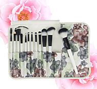 12pcs  Makeup Brushes Set  Contour Brush Blush Brush  Eyeshadow Brush Lip Brush  Brow Brush  Eyeliner Brush  Eyelash Comb (Round)
