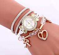 Fashion Women Love Heart Pendant Bracelet Watch Wholesale Casual Ladies Girl Rope Weave Diamond Dress Quartz Watch
