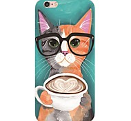 iPhone 7 7Plus Cartoon Cat Pattern TPU Ultra-thin Soft Back Cover for iPhone 6s 6 Plus 5s 5 5E