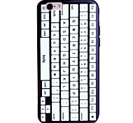 For iPhone 7 7plus 6S 6plus Case Cover Keyboard Pattern Relief TPU  Acrylic Material Phone Case