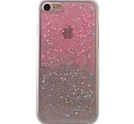 For iPhone 7 7Plus 6s 6Plus Case Cover Pink Flashing Stars Pattern TPU  Acrylic Material Phone Case