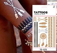 4 Tattoo Stickers Jewelry Series / Flower Series / Totem Series / Others / Cartoon Series / Romantic SeriesNon Toxic / Pattern / Hawaiian