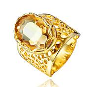 Ring Kubikzirkonia vergoldet 18K Gold Gold Schmuck Hochzeit Party Alltag Normal 1 Stück