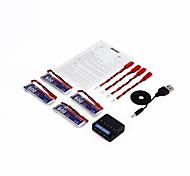 OCDAY 3.7V 500MAH 25C 1S1P 1.85WH Battery & Charger for UDI U818A U815A U817