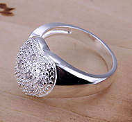 Jewelry Women Silver Ring Heart Spider Sterling Silver Statement Rings