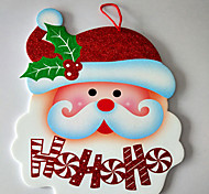 Christmas Decorations Paper Welcome Door Window Ornaments Hung On Santa Snowman Was Hanging Stochastic Pattern
