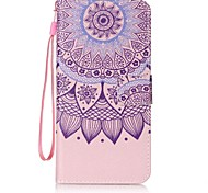 For iPhone 7 Case / iPhone 6 Case / iPhone 5 Case Card Holder / Wallet / with Stand / Flip Case Full Body Case Mandala Hard PU Leather for